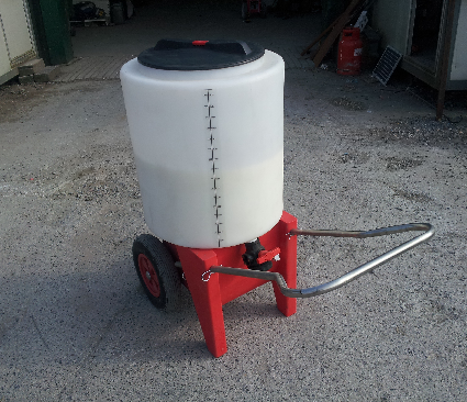 165 Litre Mobile Milk MIxer Trolley