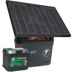 SECUR 500 SUN + 50 Watt Solar Panel + Deep Cycle Solar Battery